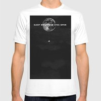 Sleep With Your Eyes Ope… Mens Fitted Tee White SMALL