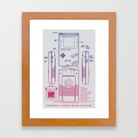 Game Kid Framed Art Print