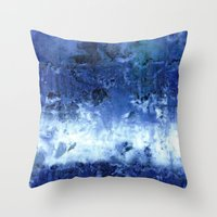 Saltwater Silk Blue Throw Pillow