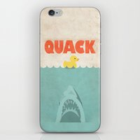 Jaws Rubber Duck iPhone & iPod Skin