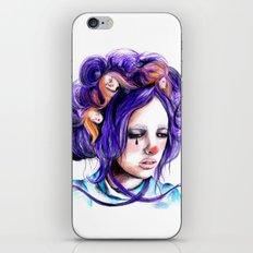 Dolls in her hair, Forest of Dolls Collection iPhone & iPod Skin