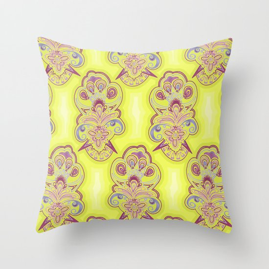 Afternoon Wallpaper Throw Pillow