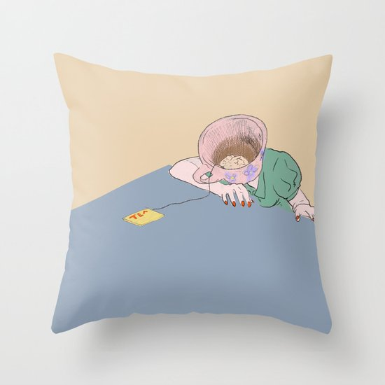 I SHOULD HAVE HAD THE COFFEE Throw Pillow