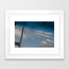 Georgia/South Carolina Bridge Framed Art Print