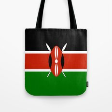 National flag of Kenya - Authentic version, to scale and color Tote Bag