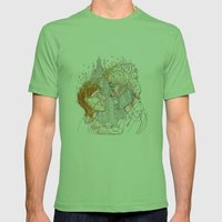 """"""" I realized early autumn """" Mens Fitted Tee Grass SMALL"""