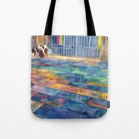 Dog And The City Tote Bag