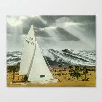 Sand Ship Canvas Print