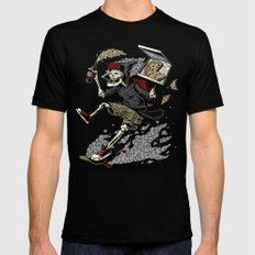 PARTY UNTIL DEATH SMALL Black Mens Fitted Tee