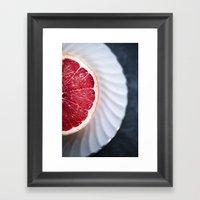Grapefruit - Foodie Macr… Framed Art Print