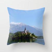 Lake Bled, Slovenia Throw Pillow