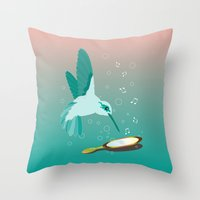 Can You See The Music Throw Pillow