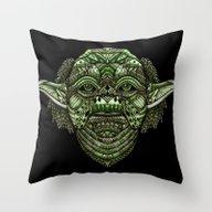 Aztec Jedi Master Yoda Throw Pillow