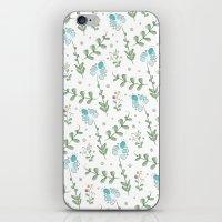 Fun Summer Flower Pattern iPhone & iPod Skin