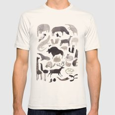 animaletti Mens Fitted Tee Natural SMALL