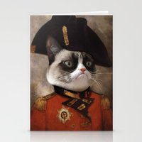 Angry Cat. Grumpy Genera… Stationery Cards