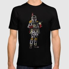 Boba Font Mens Fitted Tee Black SMALL