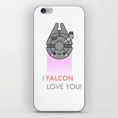 i FALCON love you iPhone & iPod Skin