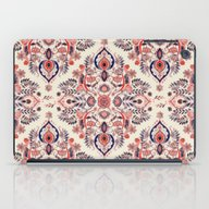 iPad Case featuring Modern Folk In Coral Red… by Micklyn