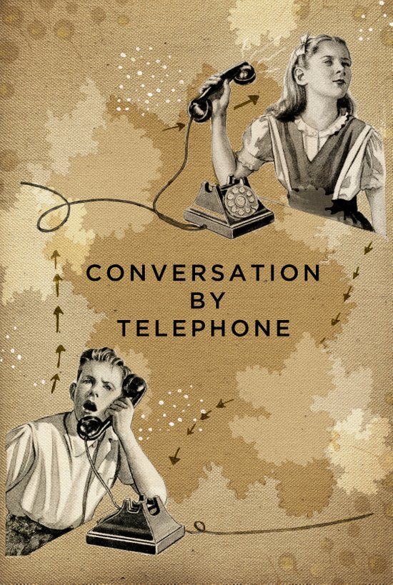Conversation by Telephone Canvas Print