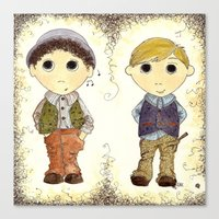 The Twins: Hugo & Harry Canvas Print