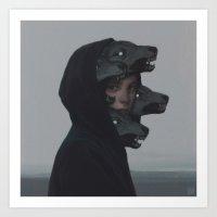 wolf Art Prints featuring Wolf Pack by yurishwedoff