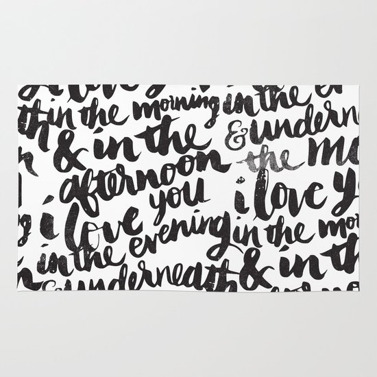I love you in the morning Area & Throw Rug