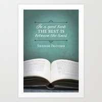 Good Books Art Print