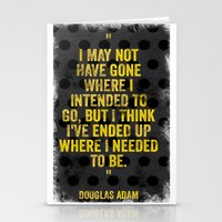 Intentions  Stationery Cards