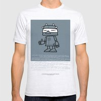 Ze Robot, Cool :) Mens Fitted Tee Ash Grey SMALL