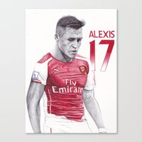 ALEXIS SANCHEZ Pen Drawi… Canvas Print