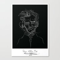 edgarBlack Canvas Print