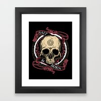 Salt & Burn Framed Art Print