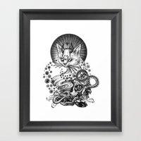 Satan Cat Framed Art Print