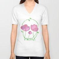 Tulip Skull Unisex V-Neck