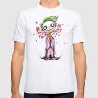 Evil Laughing Clown Joke Mens Fitted Tee Ash Grey SMALL