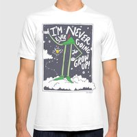 Peter Pan: Never Going to Grow Up! Mens Fitted Tee White SMALL