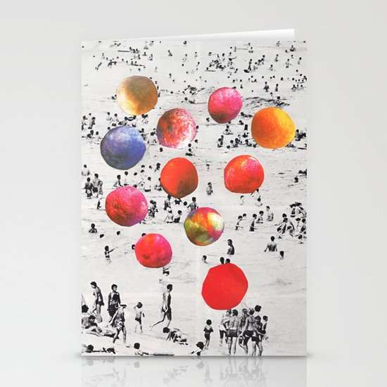 BEACH BALLS Stationery Card