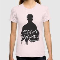 Say My Name - Heisenberg (Silhouette version) Womens Fitted Tee Light Pink SMALL