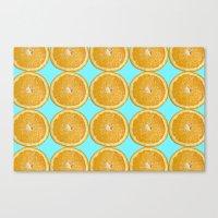 Oranges Fruit Citrus Pho… Canvas Print
