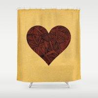 - heart line - Shower Curtain