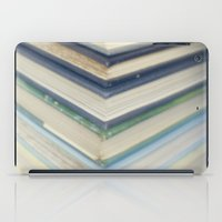 Blue chevron books iPad Case