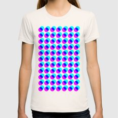 dots pop pattern Womens Fitted Tee Natural SMALL
