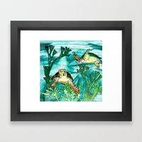 Myrtle Turtle. Framed Art Print