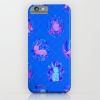 Picnic Pals animals in blueberry iPhone 6 Slim Case