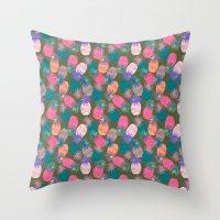 Pina Colada Bright Throw Pillow