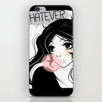 Apathetic mood anime girl iPhone & iPod Skin