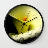 Lily of the Nile Wall Clock