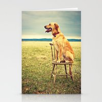 DogOnChair Stationery Cards