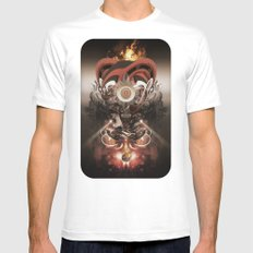 Pyropriest Mens Fitted Tee SMALL White